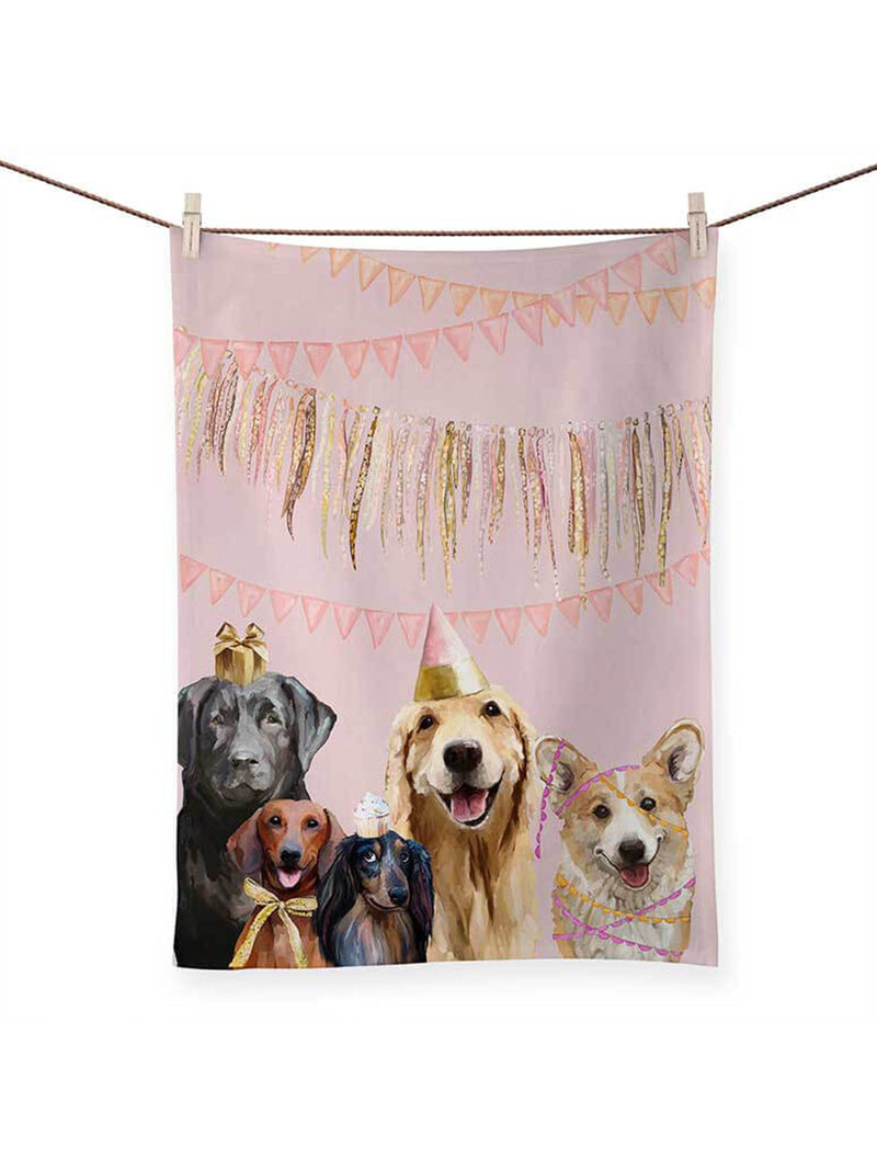 Party Pups - Tea Towel