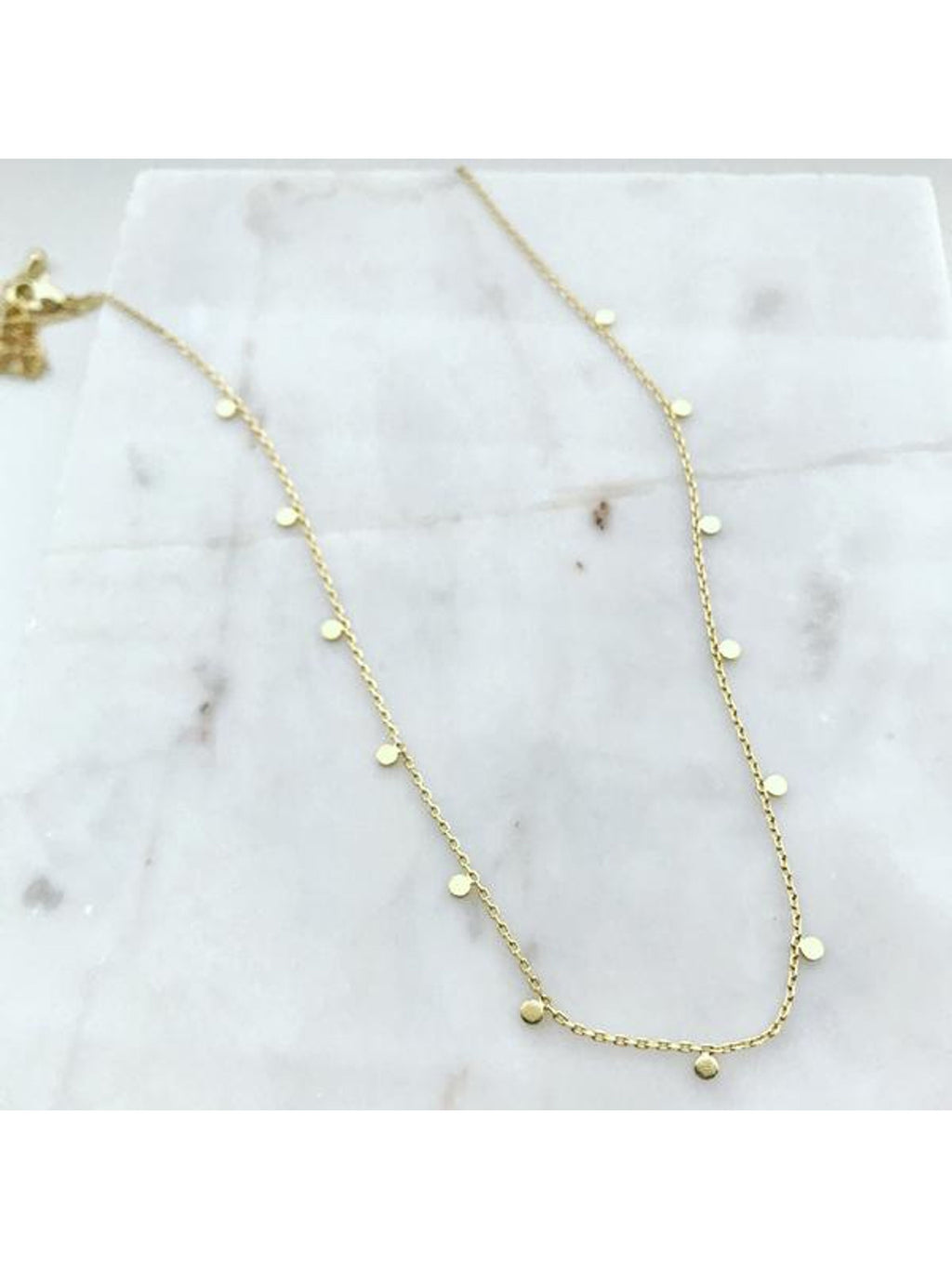 Floating Dainty Coin Necklace