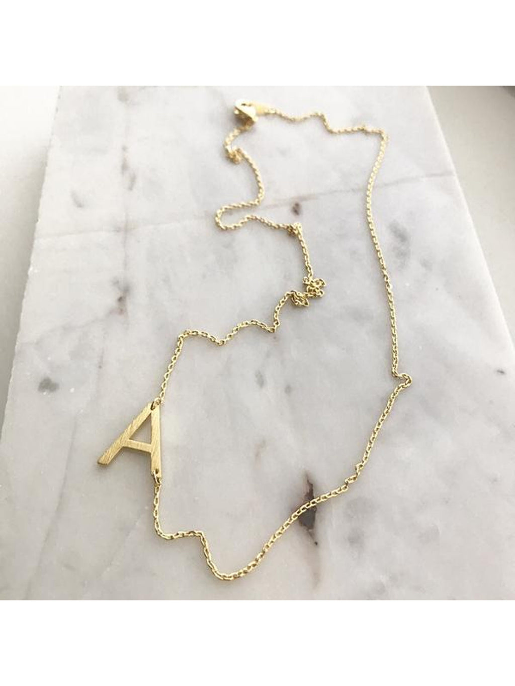 Slant Initial Necklace