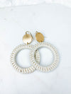 Chloe Crochet Circle Earrings
