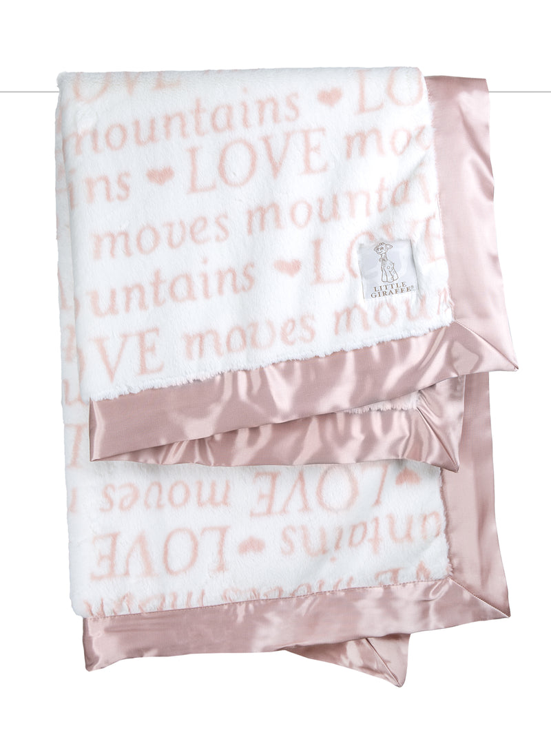Luxe Love Moves Mountains Blanket