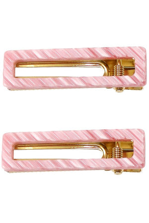 Pastel Rectangle Hair Clips
