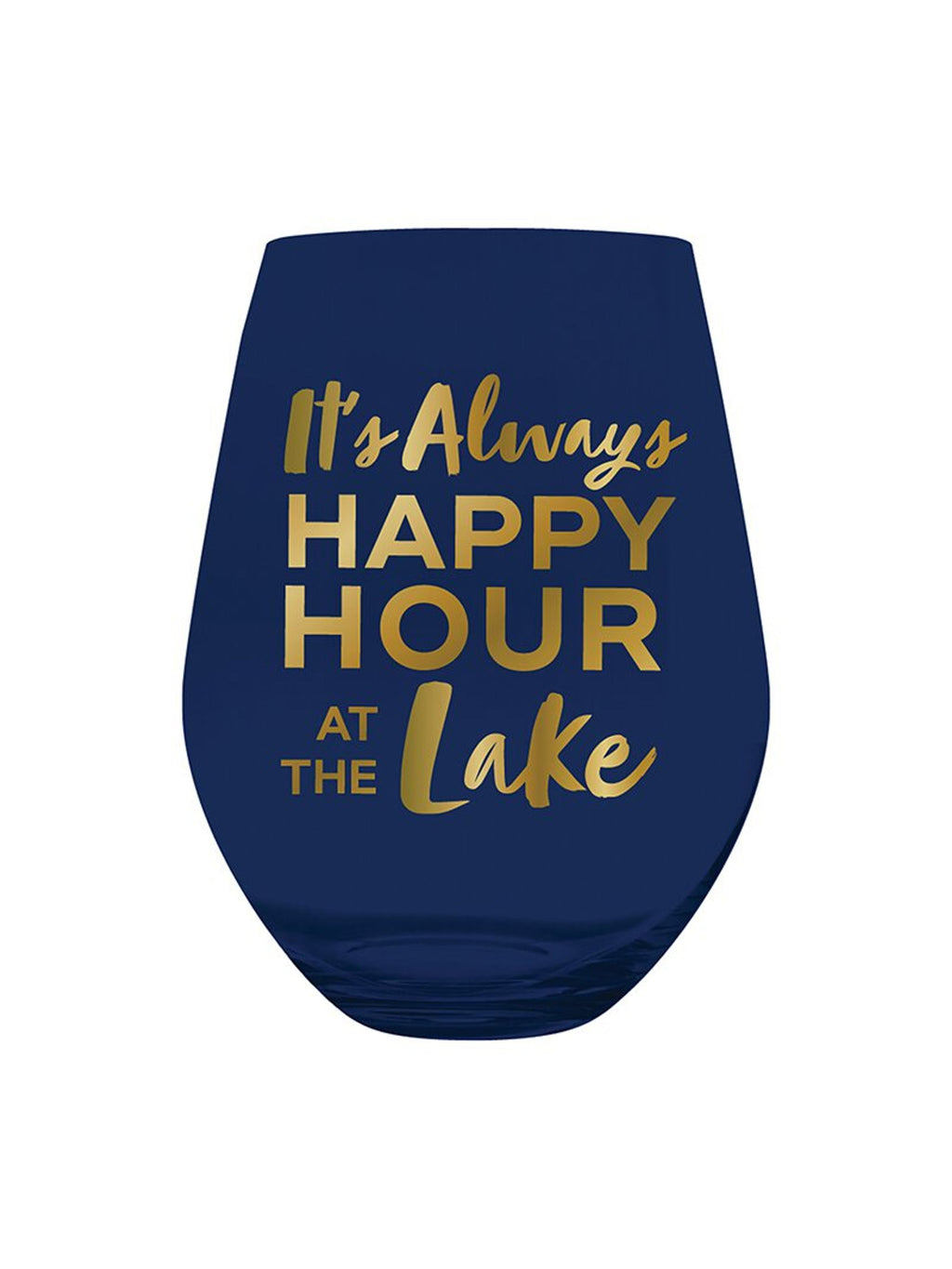 Happy Hour At The Lake Jumbo Wine Glass
