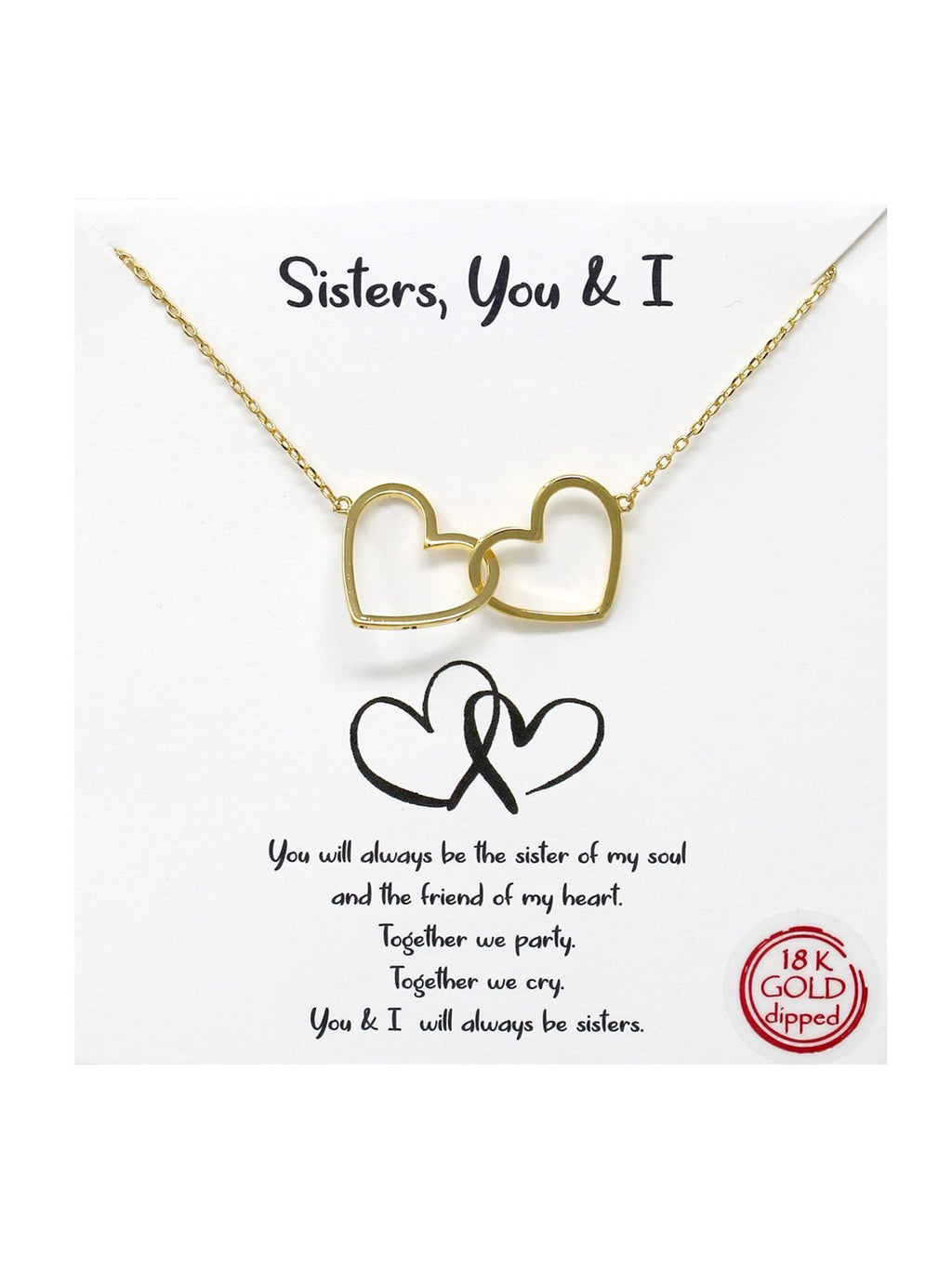 'Sisters, You and I' Necklace