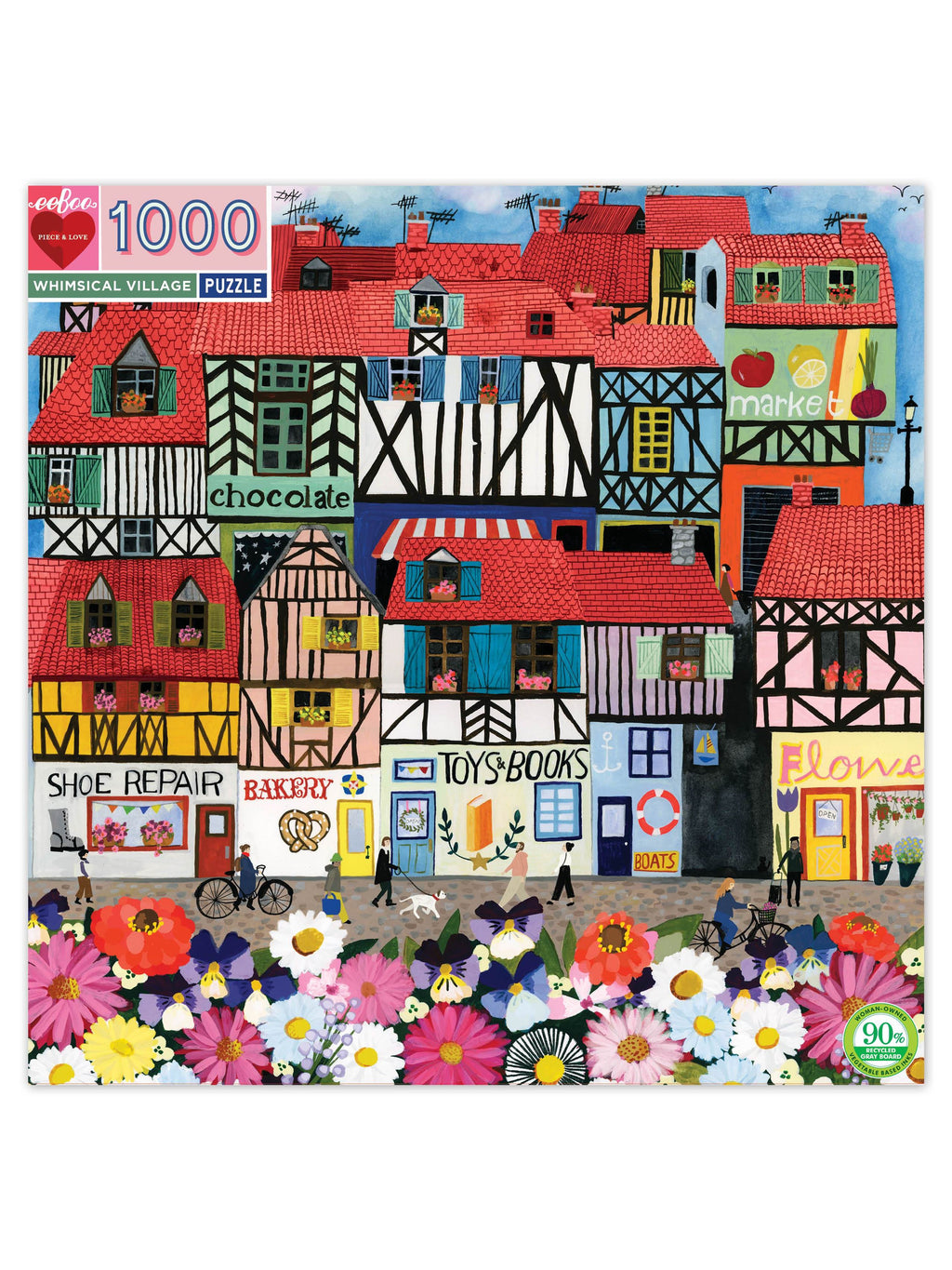 Whimsical Village - 1000pc Puzzle