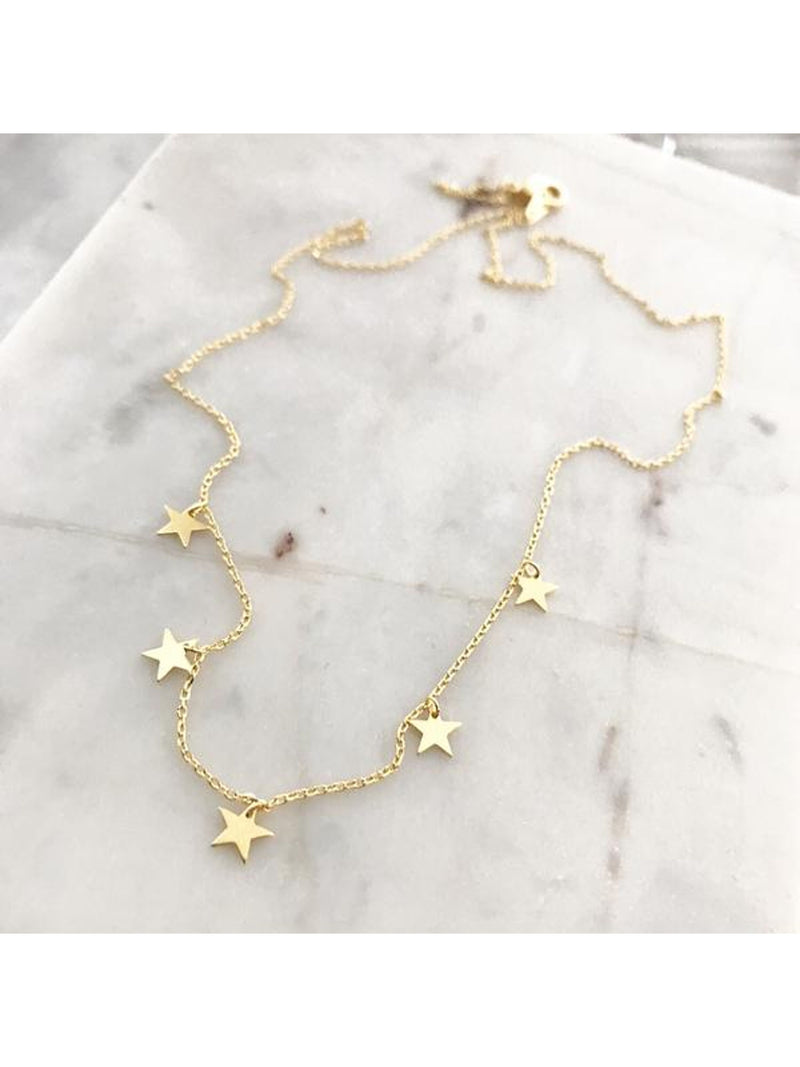Stars Dangle Necklace