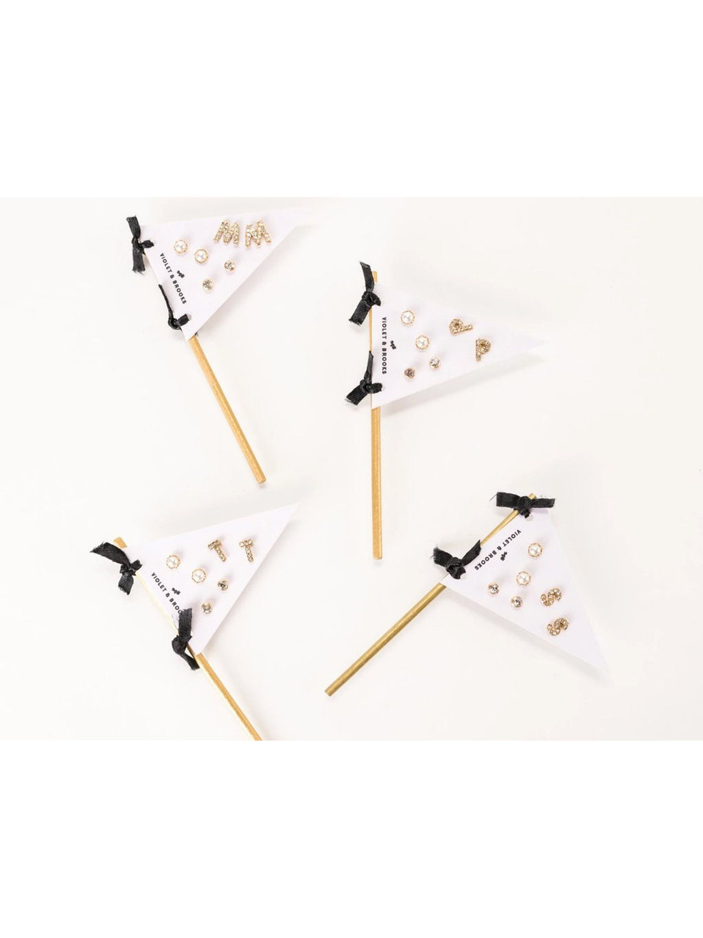 Initial Pennant Earring Set