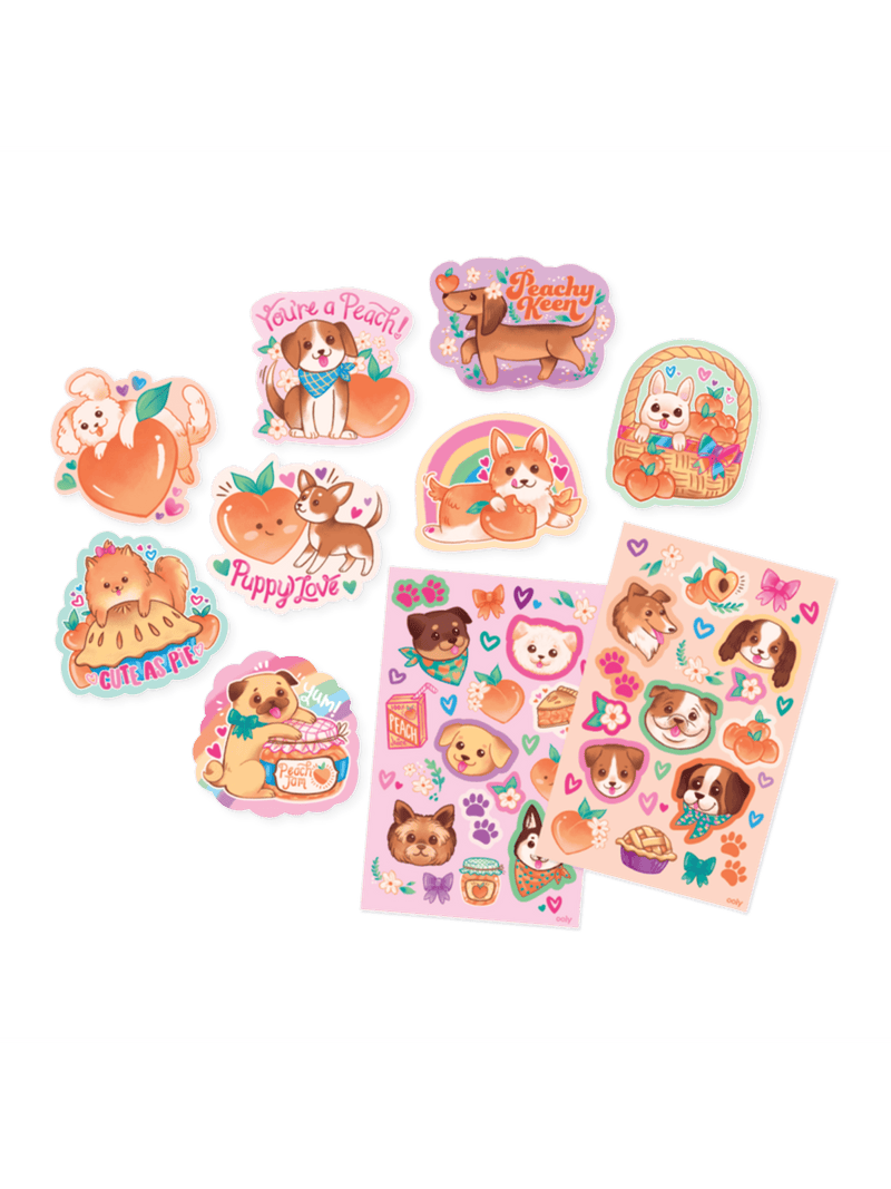 Puppies & Peaches - Scented Stickers