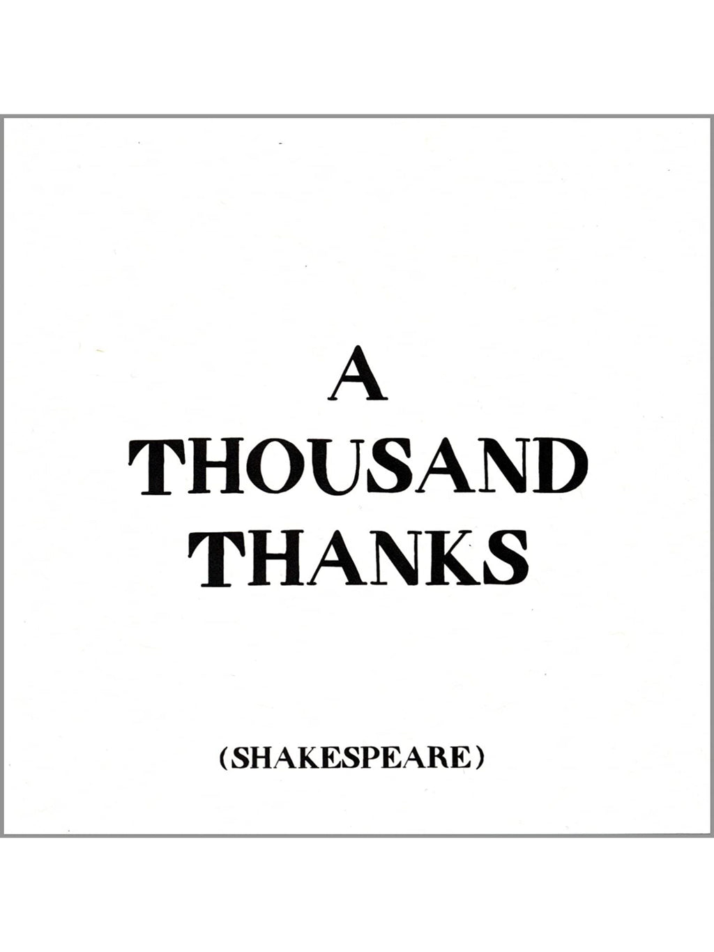 A Thousand Thanks - Card