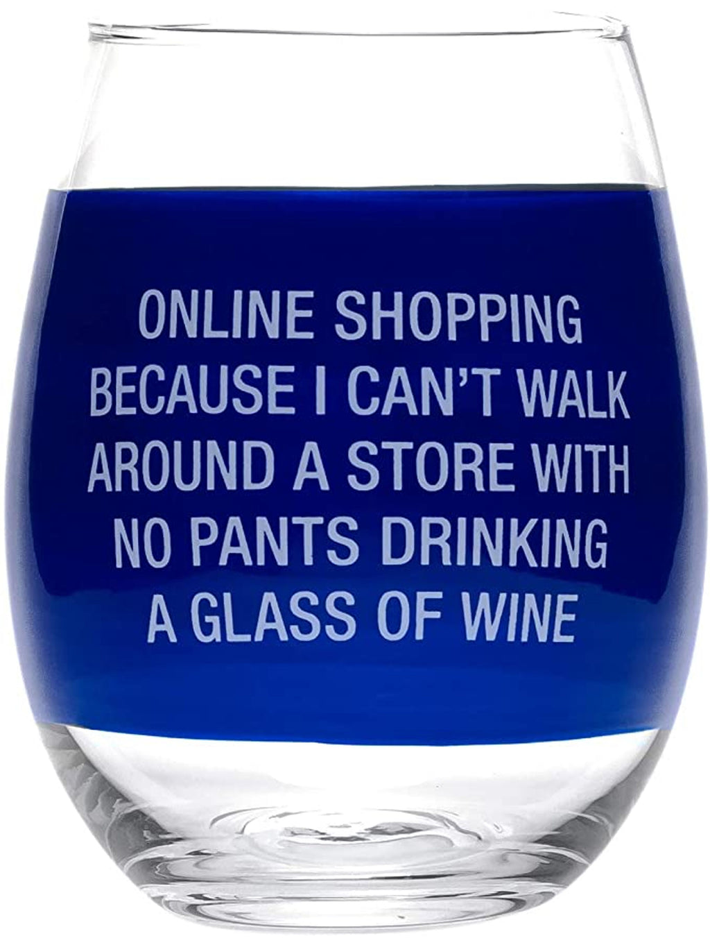 """Online Shopping"" Wine Glass"