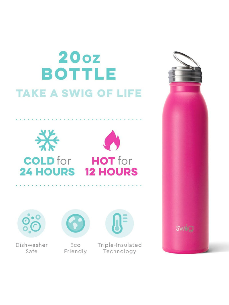 Swig Matte Hot Pink - 20 oz. Bottle