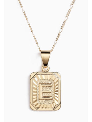 Initial Card Necklace - Bracha