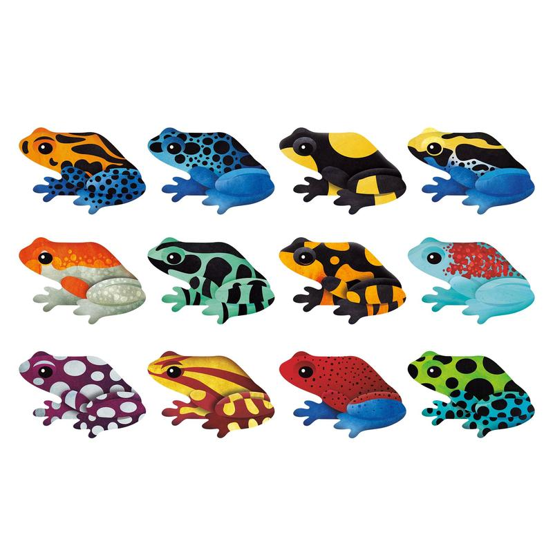 Shaped Memory Match - Tropical Frogs