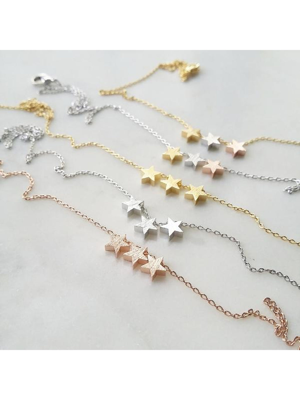Multi-Metal Star Necklace