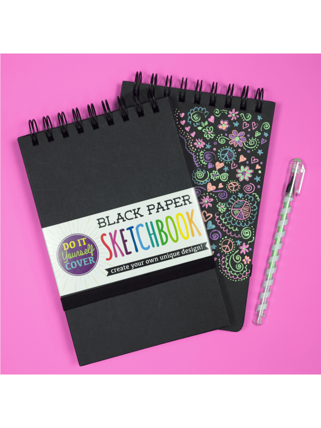 Large Black Paper Sketch Book