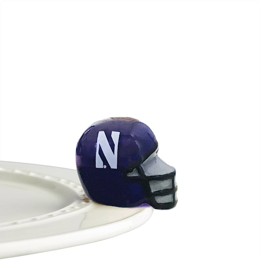 Nora Fleming Mini Northwestern Football