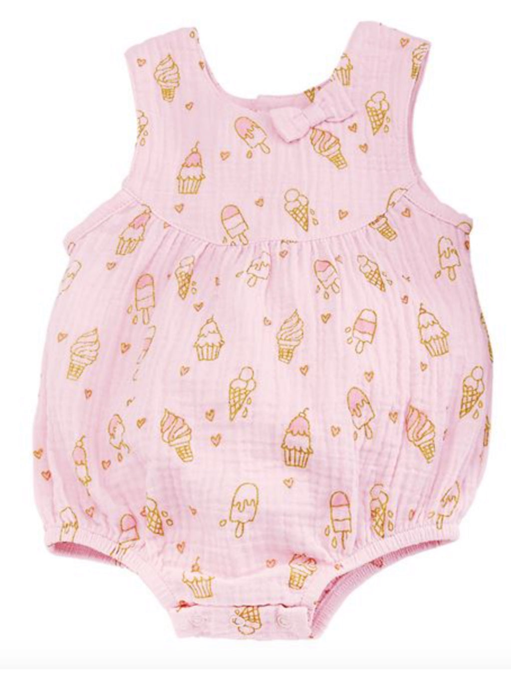 Little Ice Cream Bubble Romper