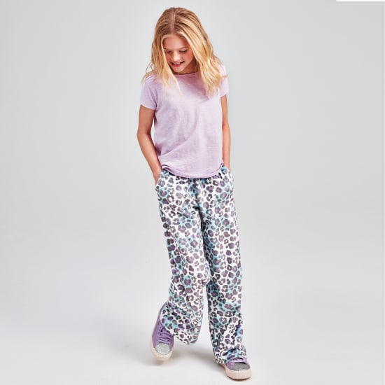 Snow Leopard Plush Pants