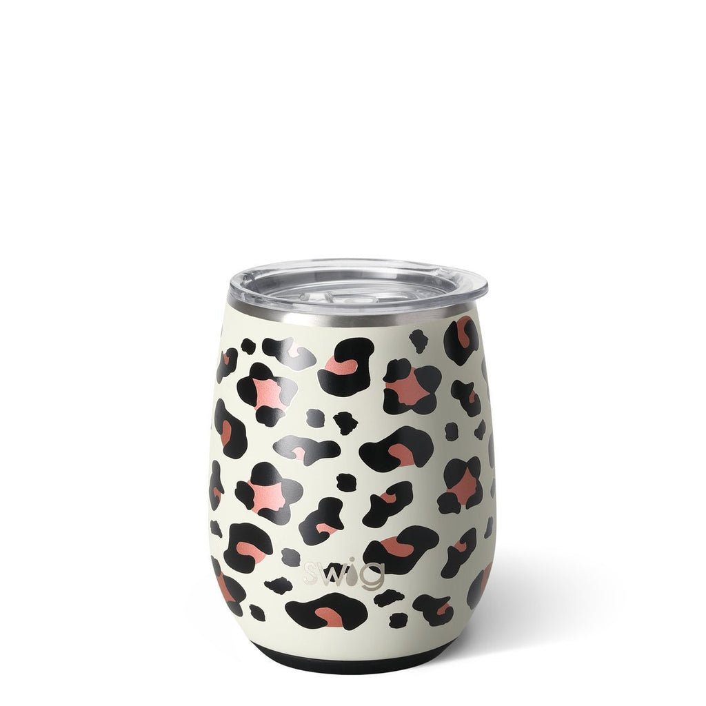 Swig Leopard - 14 oz. Stemless Wine Cup