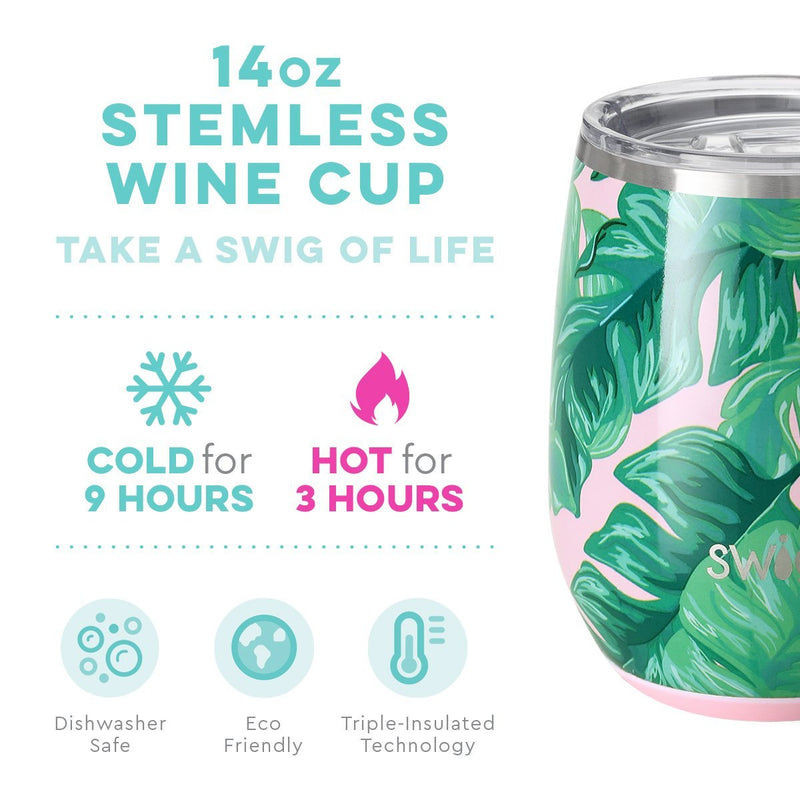Swig Palm Springs - 14 oz. Stemless Wine Cup
