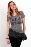 Bliss Heather Grey Tee