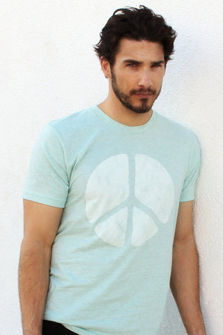 Peace Seafoam Green Crew
