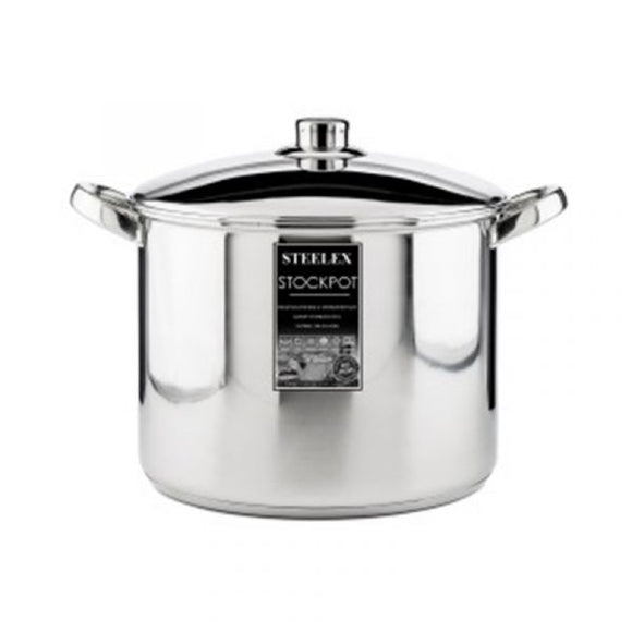 Steelex - Stainless Steel  Stock Pot 28cm - 12.5Lt