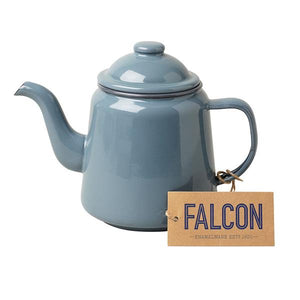 Falcon Grey 14cm Teapot with Dark Grey Rim
