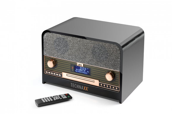 Technaxx Retro Bluetooth DAB+/FM Stereo Radio with CD-Player & USB TX-102