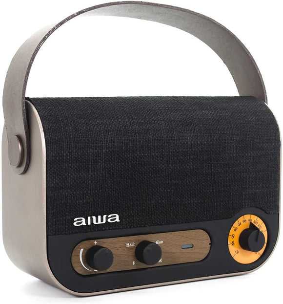 Aiwa RBTU-600 Vintage Style Portable Radio and Speaker