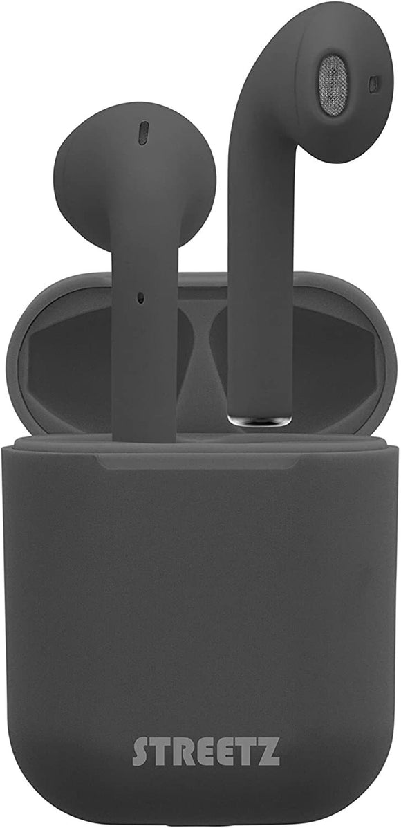 STREETZ True Wireless Ear Buds with charging case - available in Black & White