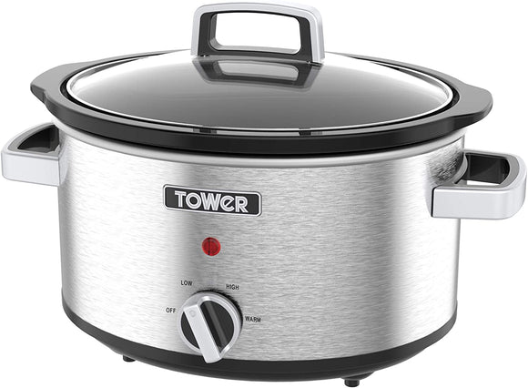 Tower Stainless Steel Slow Cooker