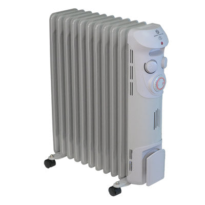 Prem-I-Air 2.5 kW 11 Fin Oil Filled Radiator with 24 Hour Timer - EH1369