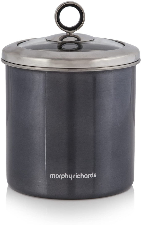 Morphy Richards - Large Storage Jars - Black