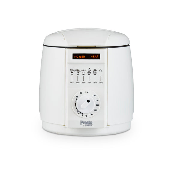 Tower Presto 1L Deep Fat Fryer White - PT17049WHT