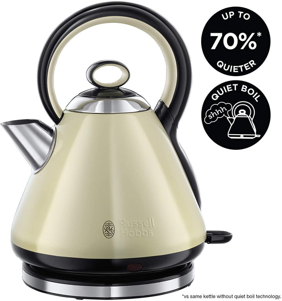 Russell Hobbs Legacy Quiet Boil Cream Kettle