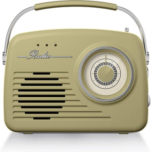 Akai Vintage Radio with AM and FM Radio Functions - Green