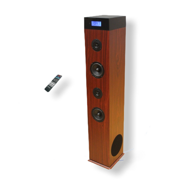 Roadstar TSPK-990CDBT Wooden Tower Speaker