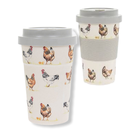 Bamboo Travel Mug - Chicken