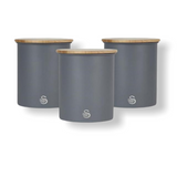 Swan - Set Of 3 Canisters - Slate Grey