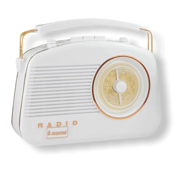 Steepletone Brighton Retro Radio - White