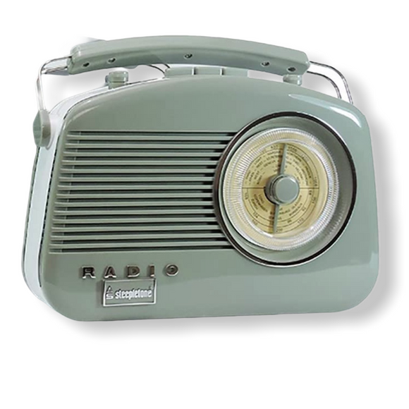 Steepletone Brighton Retro Radio - Sage Green