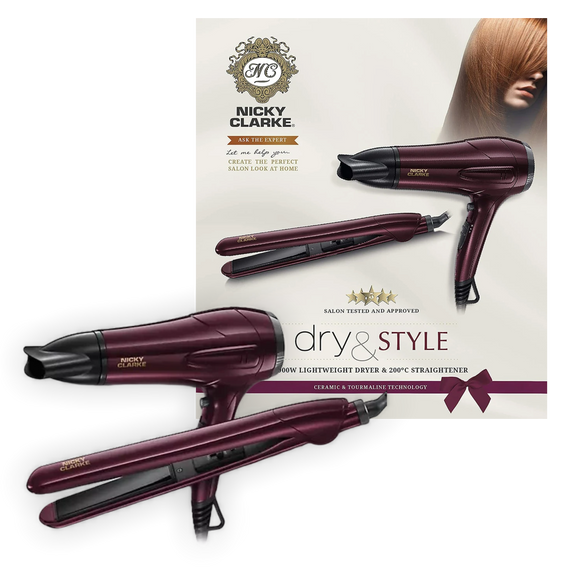 Nicky Clarke Hair Dryer & Hair Straightener Gift Set