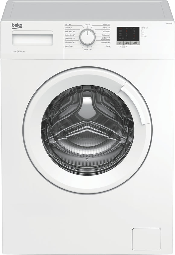 Beko - 6kg 1200rpm Freestanding Washing Machine - WTK62051W