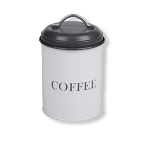 Monsoon - Grey & White Airtight Kitchen Storage - Coffee Caddy