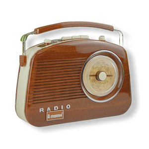 Steepletone Brighton Retro Radio - Woodgrain