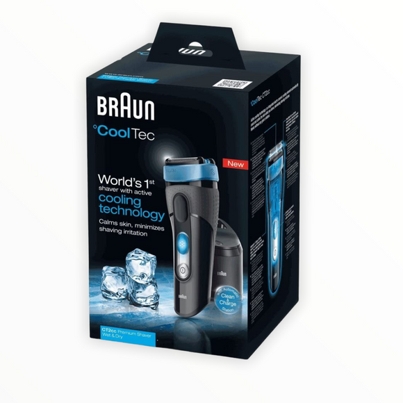 Braun - CoolTec Wet and Dry Electric Foil Shaver -CT2cc