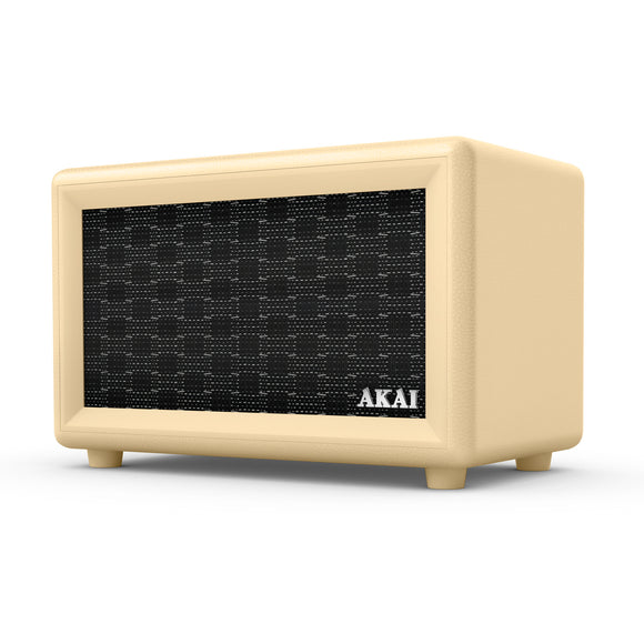 Akai Retro Bluetooth Speaker - Cream