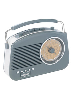 Steepletone Brighton Retro Radio - Dove Grey
