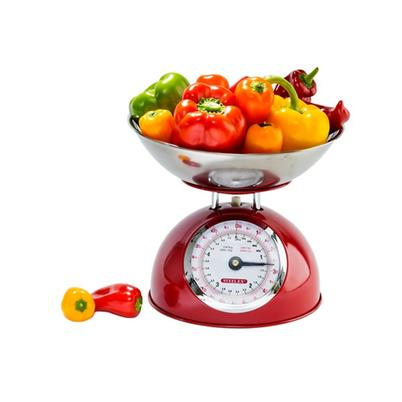 Steelex Red Metal Kitchen Scale
